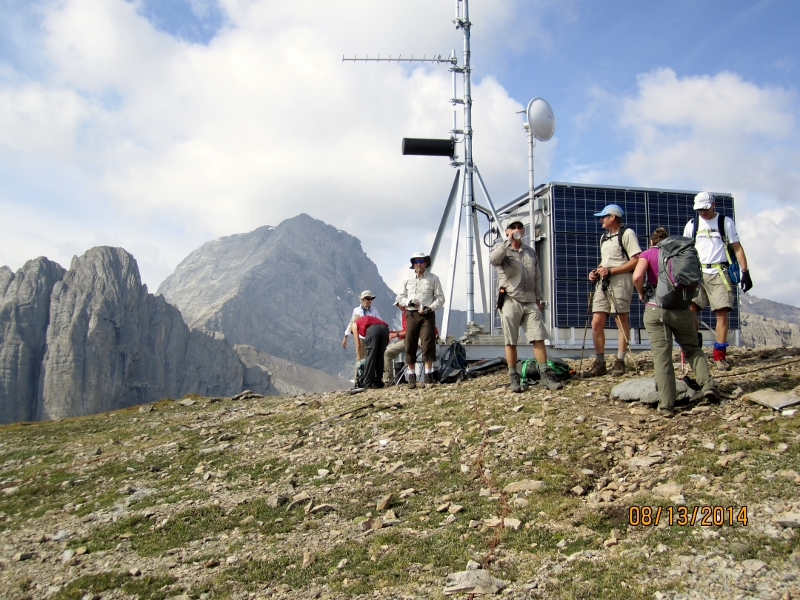 At the first summit and the transmitter