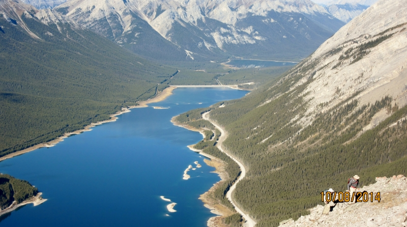 Spray Lakes from the summit