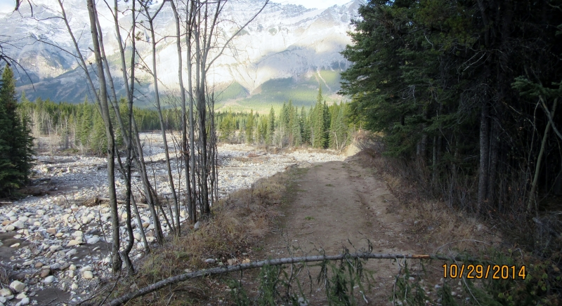 Big piece of Evan Thomas Trail washed away