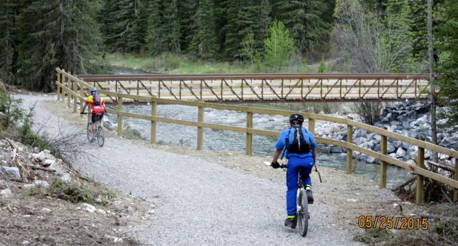 The new 2cnd bridge over the Goat Creek