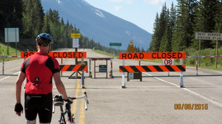 Road closed but not for bikes