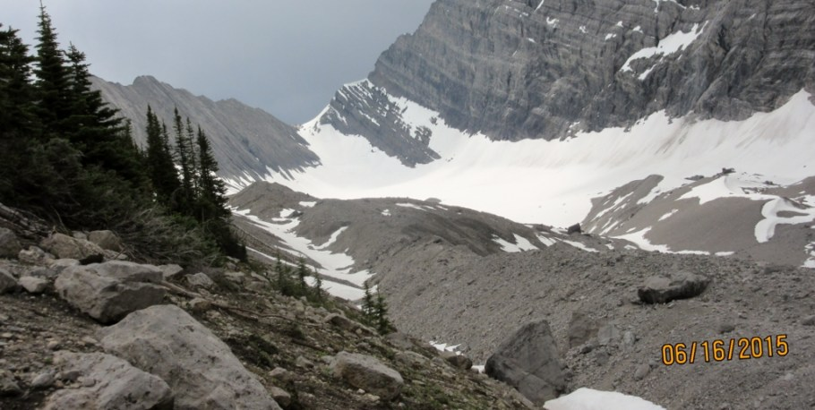 First view of the Old Goat Glacier
