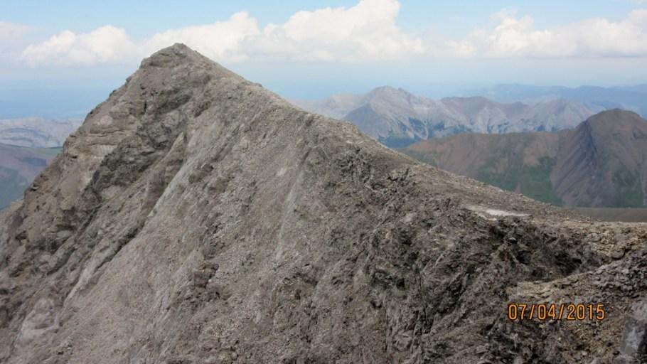 The main summit Lougheed 2. from the false sumit