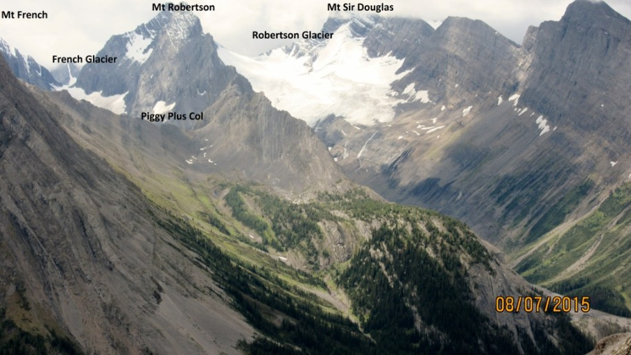 Robertson and French Glacier . Piggy Plus center