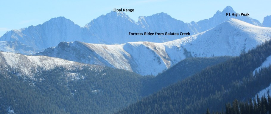 Fortress Ridge from Galatea Creek