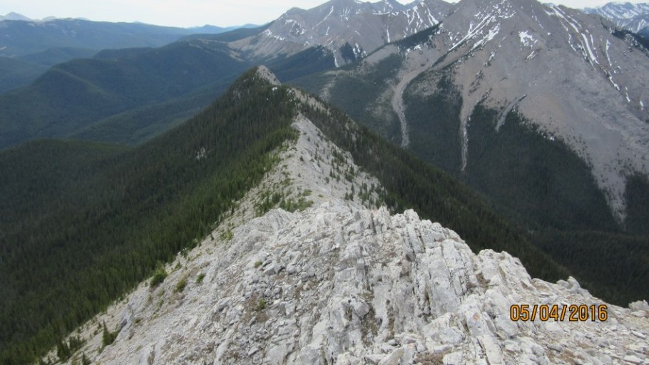 Looking down from close to the summit to Baldy Pass