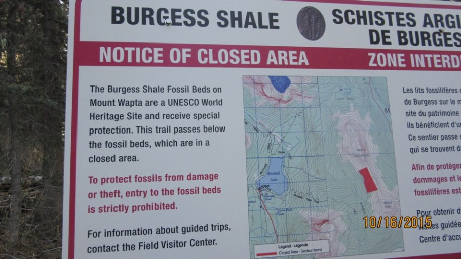 Burgess Shale warning