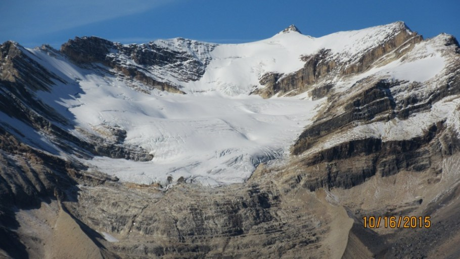Close view of the Emerald Glacier up to The President & Vice