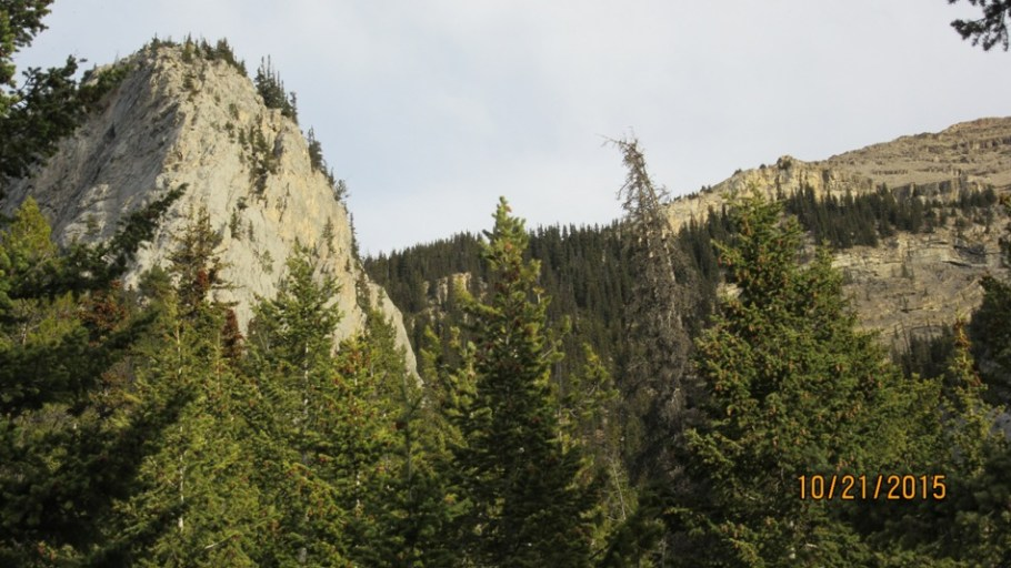 Route up around the Buttress