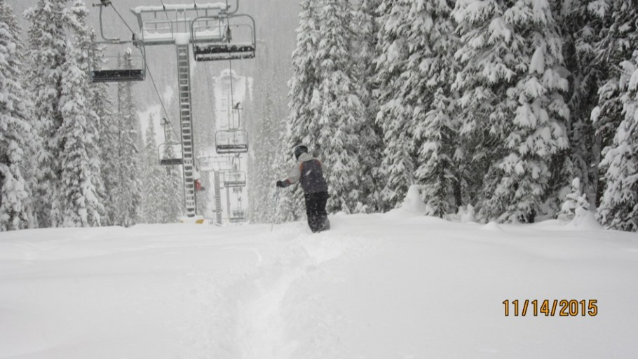 Setting off on the first powder run of the season