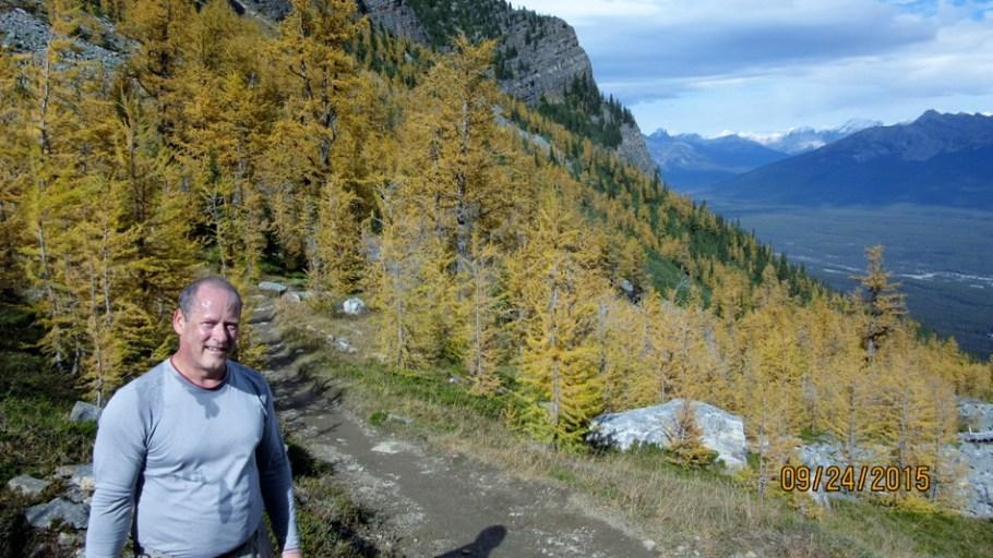 Jim with larch Saddleback