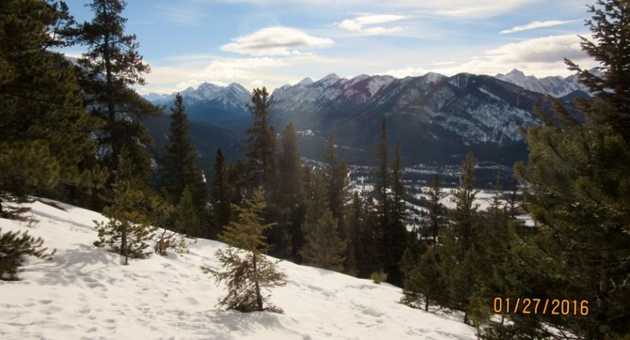View of Banff & Sanson Peak & Sulphur Mt