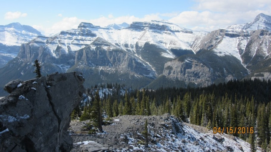 Looking across the valley towards Lake Mininewanka