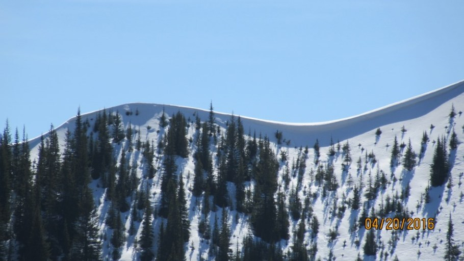 Cornice on King Creek Ridge
