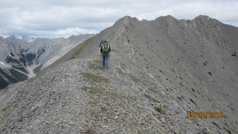On the ridge to Gap Peak