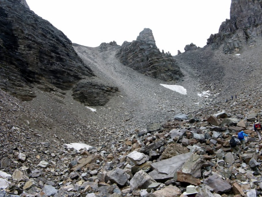Closer to Sentinel Pass Col