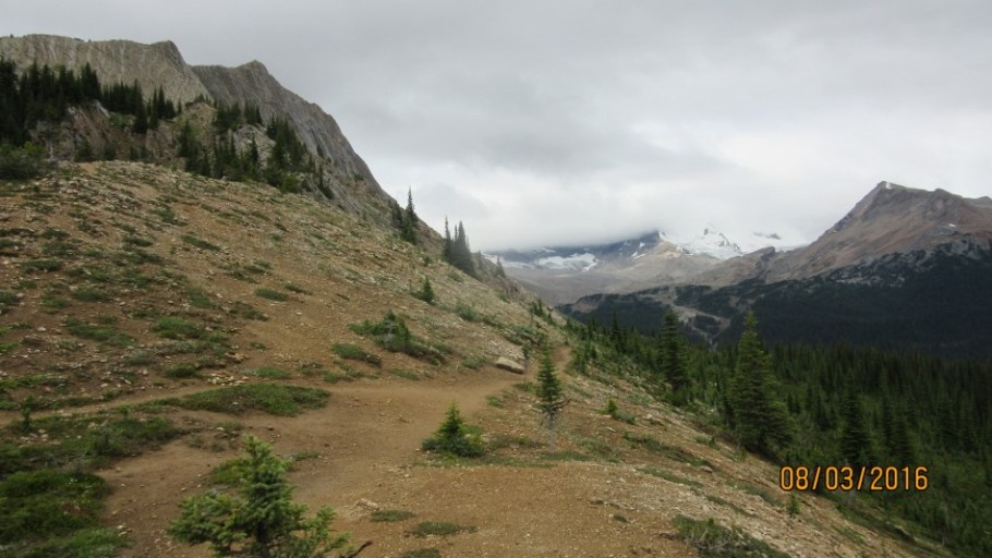 View of trail leaving top of Whaleback