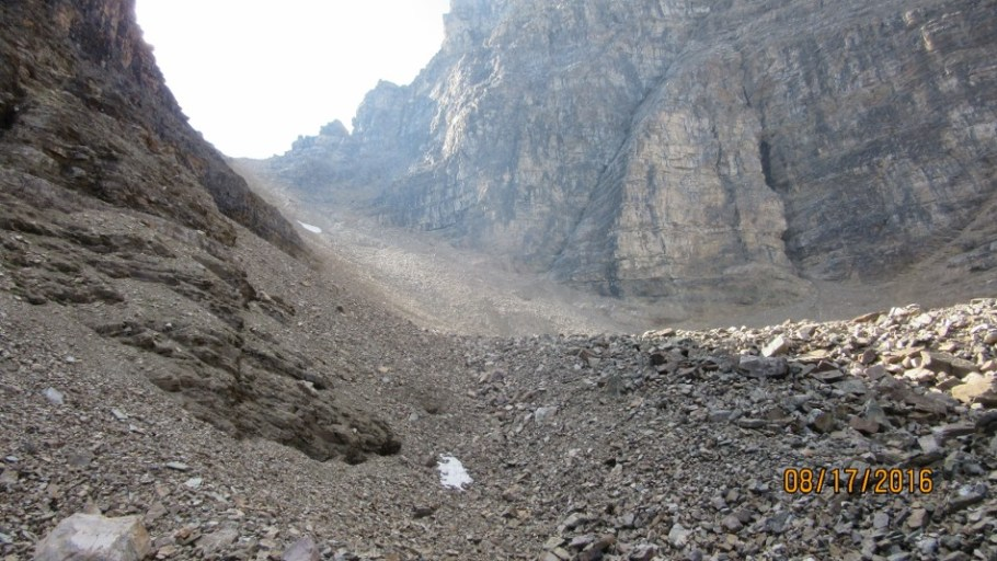 More rock up to Goat Pass