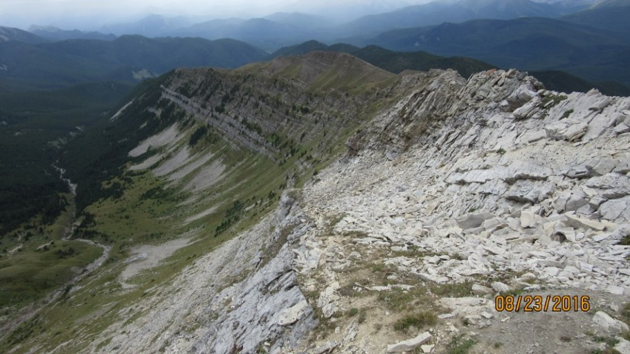 Looking back down Lineham Ridge