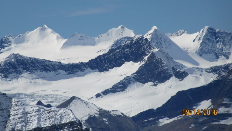 Close up of Peaks in the Wapta Icefield