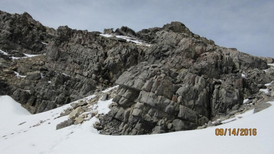The summit ridge from just below