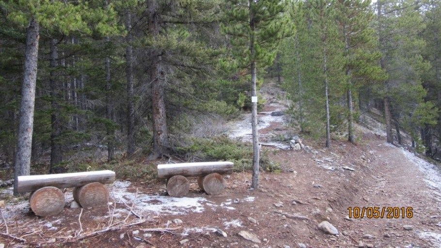 New juction with High Rockies Trail And Sparrowhawk Tarns