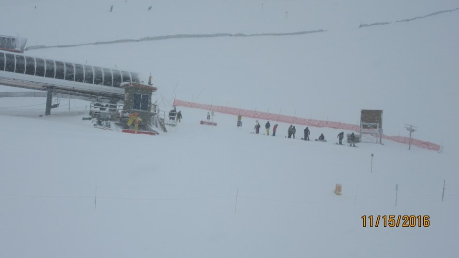 Off loading at Angel Chair