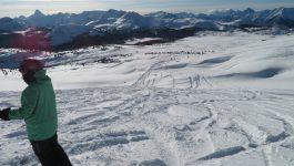 First powder day at Sunshine Village Ski Resort