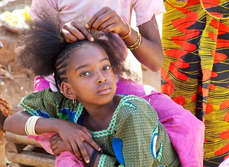 Girl in Mango Village