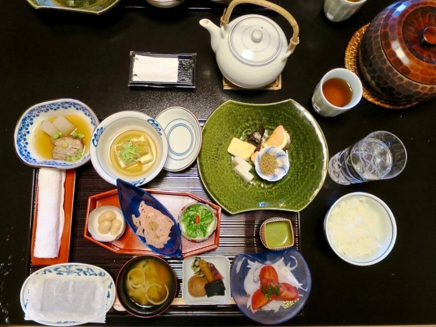 A ryokan breakfast