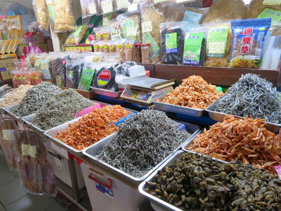Dried seafood everywhere!