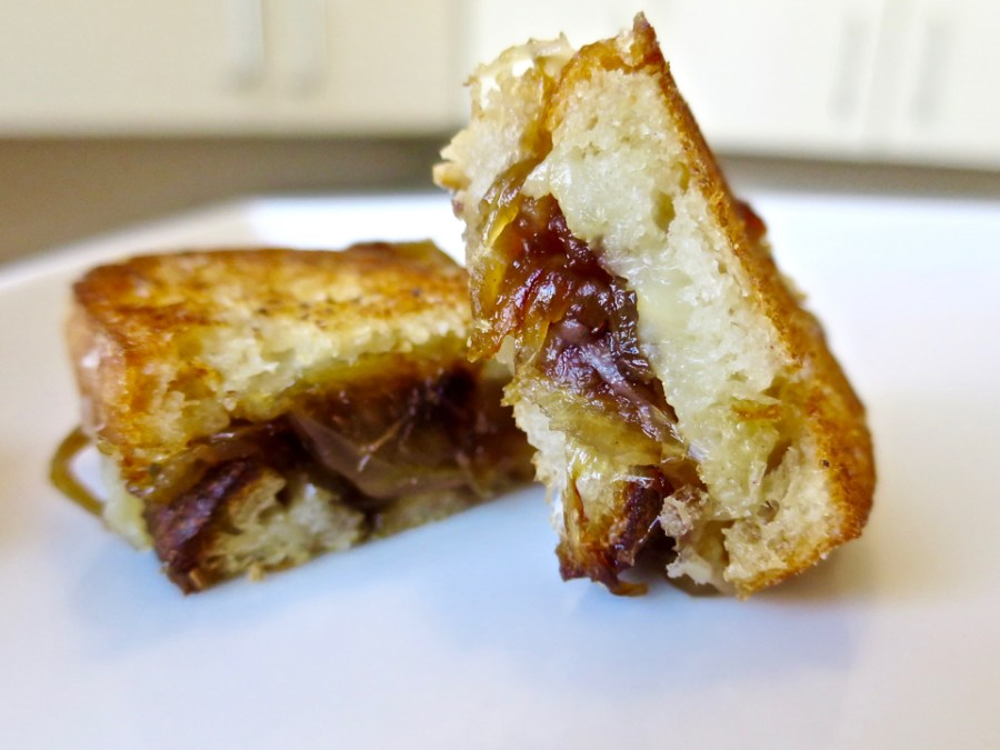 French Onion Soup Grilled Cheese - Caramelized Onion & Comte