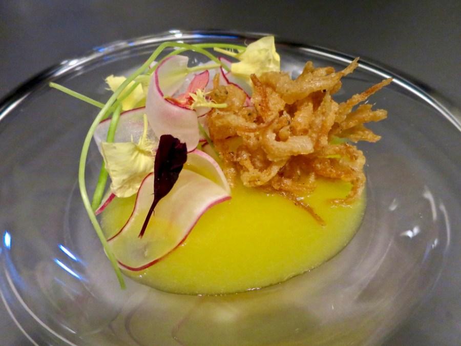 #4 - Fry - icefish from Tsukiji, daisy mandarin, radish
