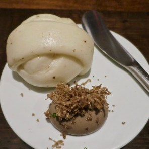 #15 truffle mantou with black truffle spread, shaved truffle - Benu, SF, Oct 2016