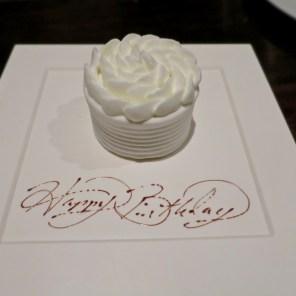 Birthday Dessert - Benu, SF, Oct 2016