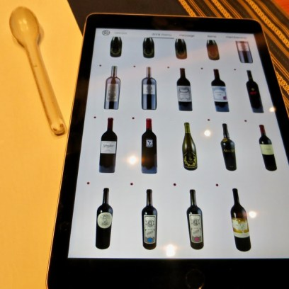 Hiroshi Los Altos - Wine list on iPads