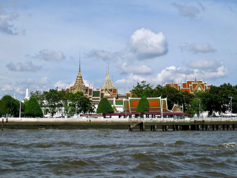 Grand Palace from the river, Bangkok, Thailand