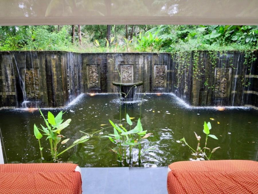 Banyan Tree Phuket - In-villa private massage tables next to waterfall