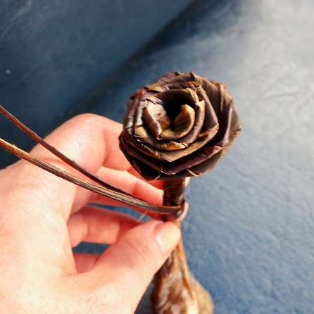 Stop 3: A rose made in the moment by our paddler while canoeing!