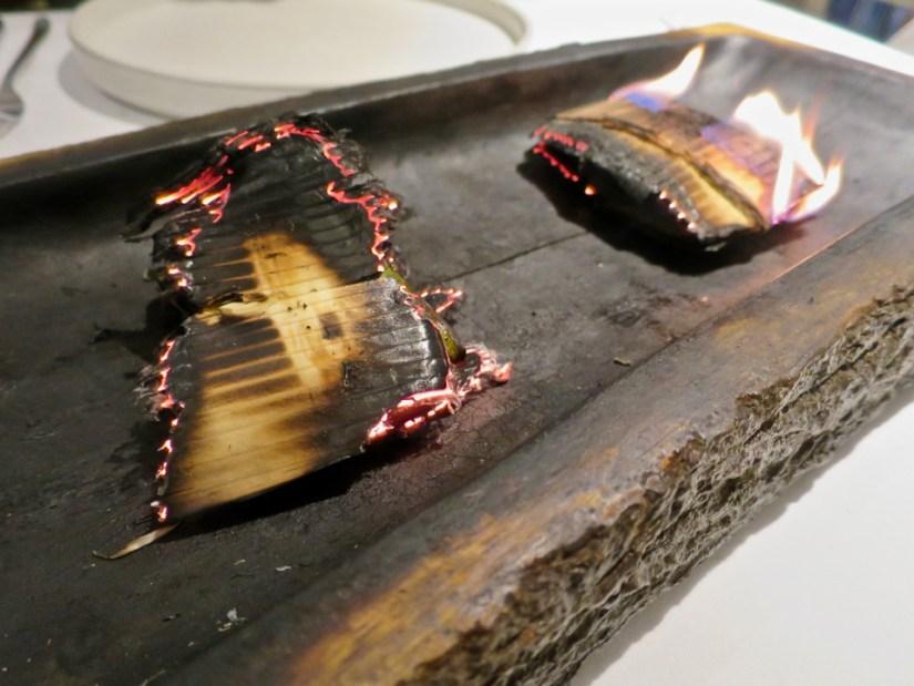 Gaggan - cedar wood paturi