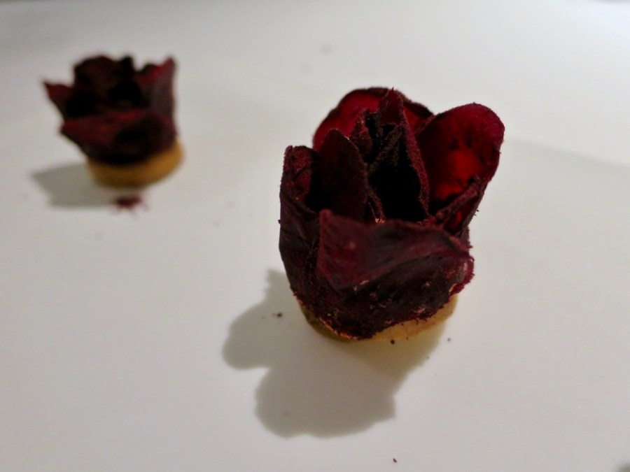 Gaggan - beetroot rose