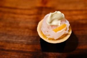 Atelier Crenn - Geoduck, sea urchin, citrus, rice tart