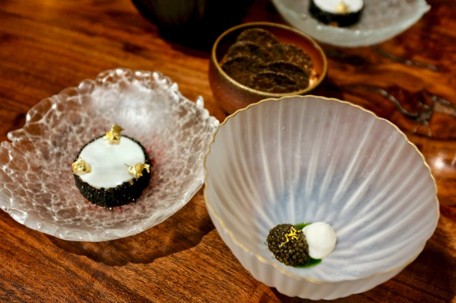 Atelier Crenn - Monkfish liver torchon, caviar, buckwheat