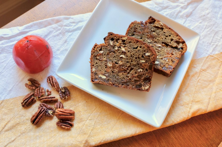 Your New Favorite Quick Bread – Persimmon Whiskey Bread with Pecans and Dried Apricots
