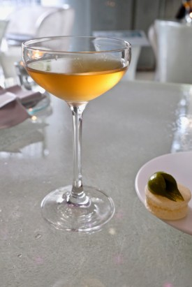 "Enigma Concept - Sherry ""shede"" cocktail, Air pancake with pistachio"