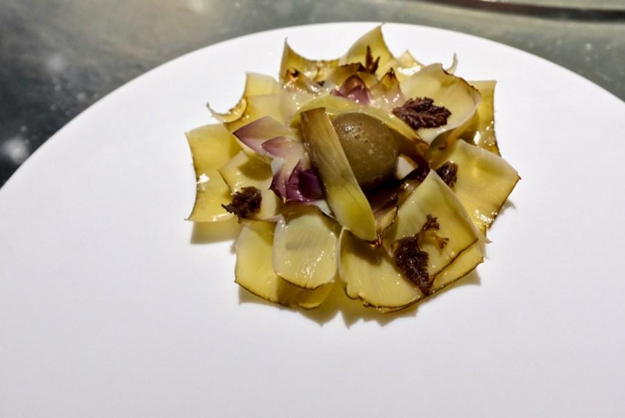 Enigma Concept - Artichoke & Roses Salad, laurencia seaweed