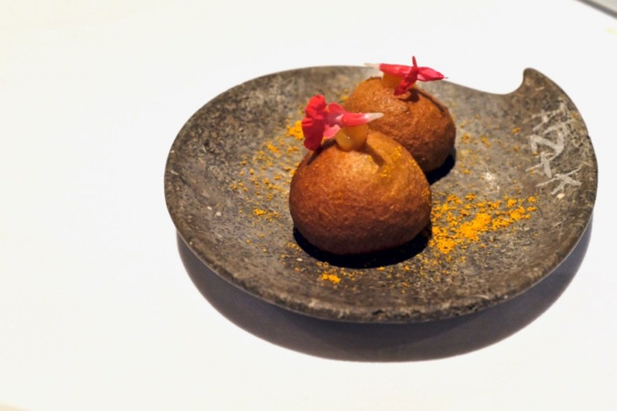 Arzak - Citrus and Mussel Sphere