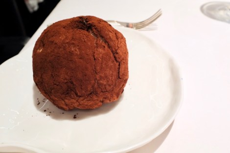 Arzak - The Big Truffle - large cocoa and sugar truffle, creamy chocolate and carob filling