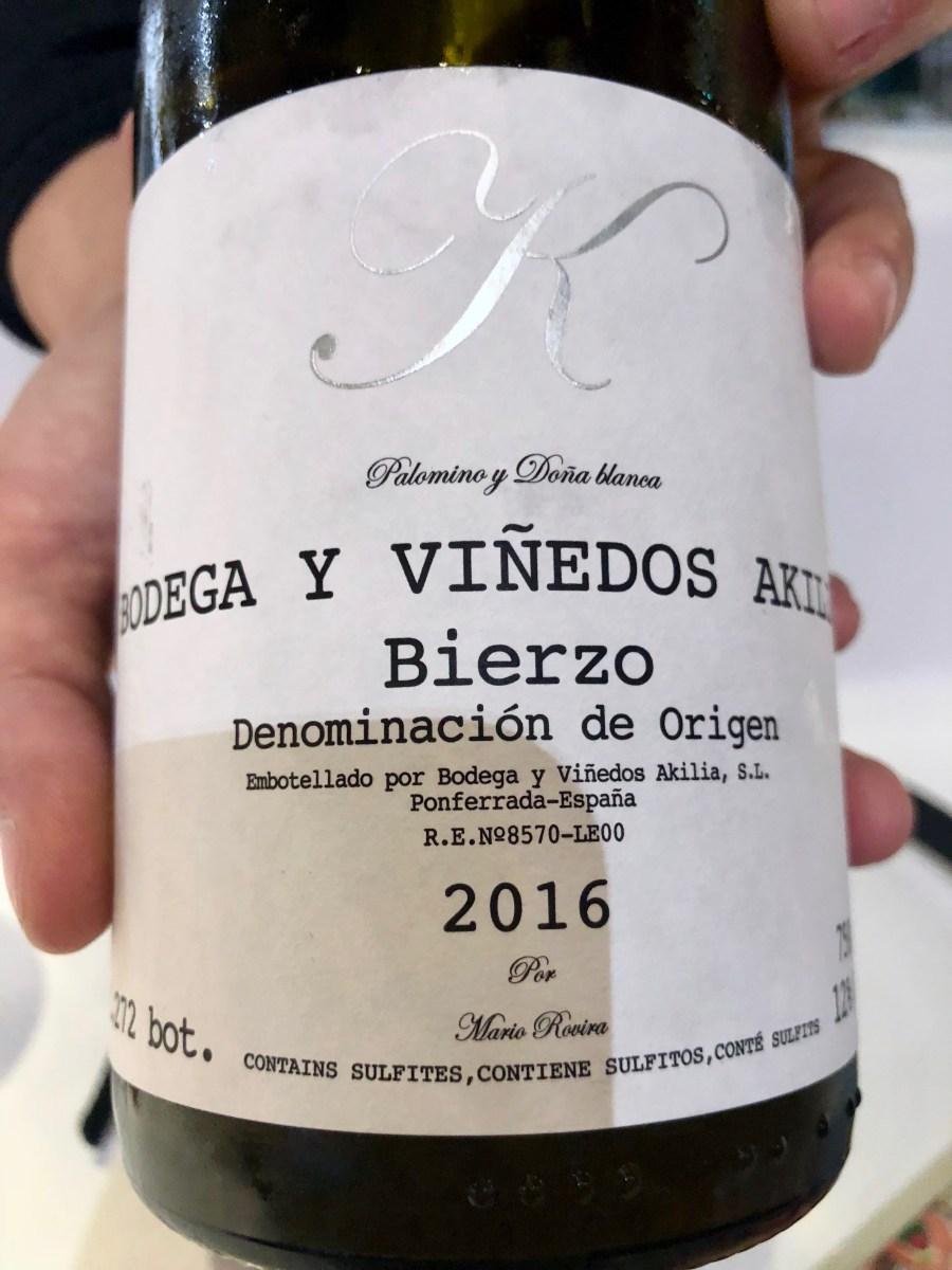 Tickets - Akila, K Blanco 2016, Bierzo, Spain - Palomino/Doña Blanca Blend