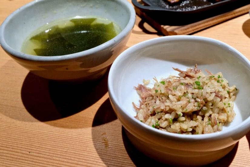 "Maum - Oxtail stew ""soht"" rice, seaweed broth"